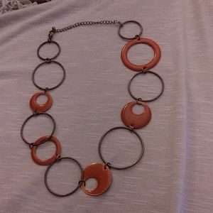 Burn orange retro looking necklace